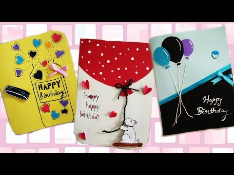 DIY: how to make simple and easy birthday greeting cards