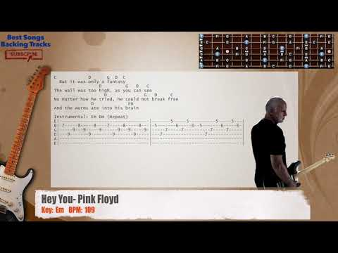 Hey You - Pink Floyd Guitar Backing Track with chords and lyrics