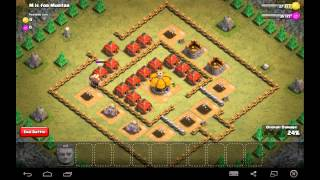M is for Mortar - Town Hall Level 3 - 9 Giants - Simple Clash of Clans