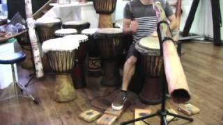 Bigfoot Stompbox - Played With Djembe, Didgeridoo & Shaker