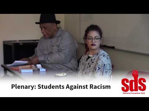 National SDS 2015: Plenary for Students Against Racism