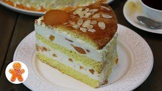 Творожный торт с фруктами простой рецепт