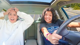 Klai takes RYKEL Driving in her car!  not a good idea!