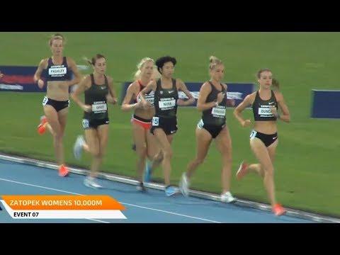 Women's 10000m At Zatopek:10 2018