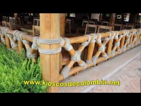 Kioscos de colombia 3 youtube for Kiosco de madera para jardin