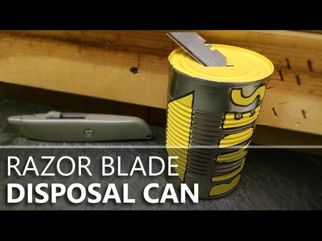 Safer Razor Blade Disposal With A Soup Can Container Youtube