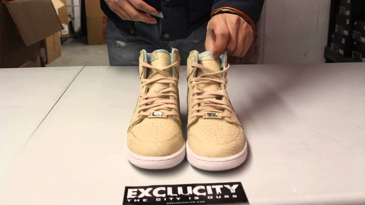 927c4492866eed ... top quality air jordan 1 retro hi og pearl gg sand dune unboxing video  at exclucity