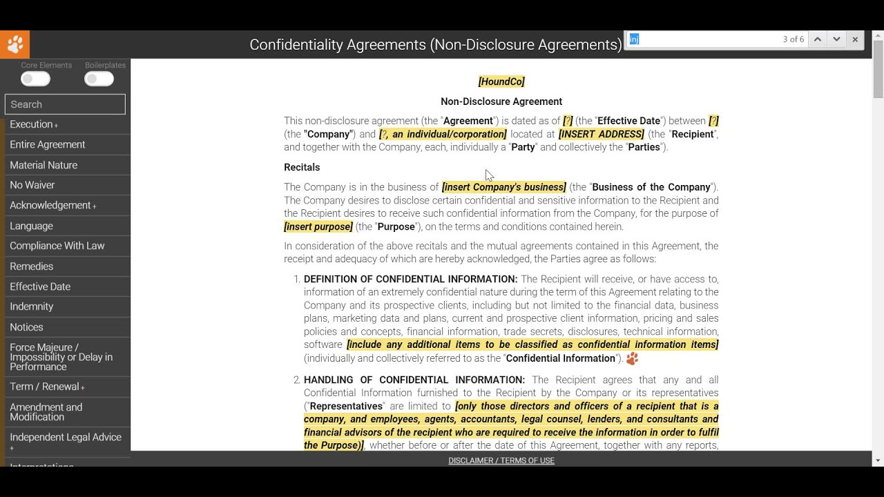 Drafting A Non Disclosure Agreement Intellectual Property