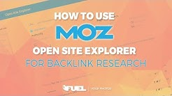 Using Moz Open Site Explorer For Backlink Research