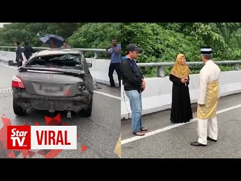 King again stops motorcade to check on accident victim