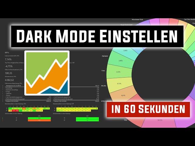 Portfolio Performance Dark Mode aktivieren in einer Minute!