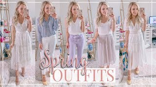WHAT'S NEW IN MY WARDROBE | SPRING TRY ON HAUL + OUTFITS | Shannon Sullivan