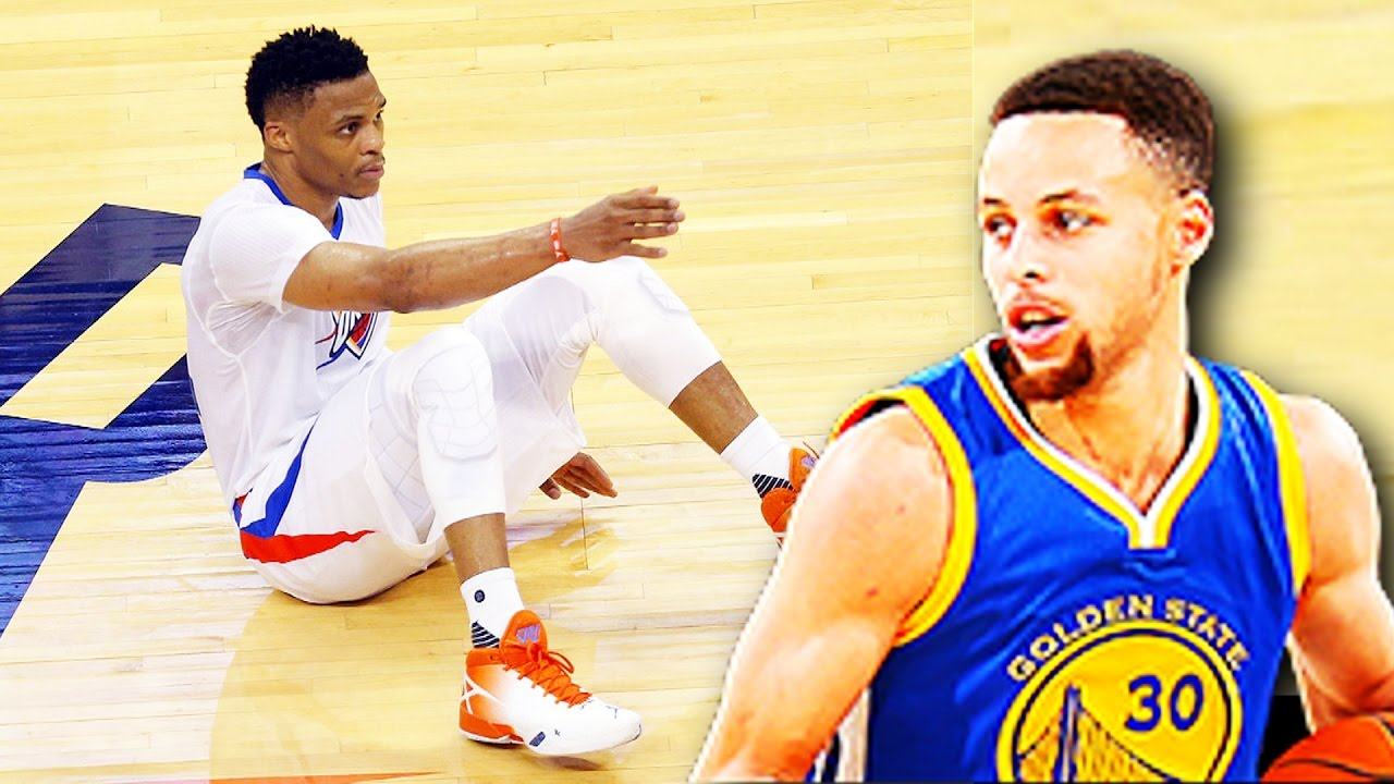 12cca134a0b Stephen Curry Breaks Russell Westbrook Ankles! Stephen Curry Drops Russell  Westbrook