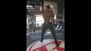 HAND SPEED!! Anthony Joshua shadow boxing