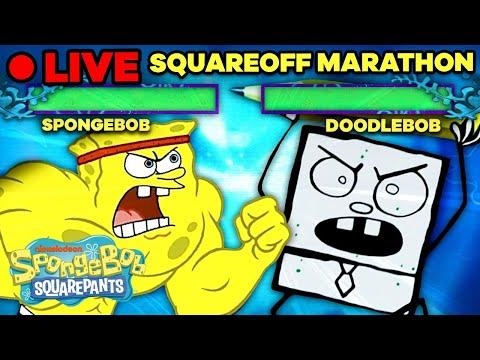 🔴 SpongeBob SquareOff Marathon! | If SpongeBob Were a Fighting Arcade Game Live Stream