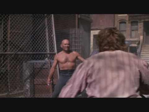 THE ULTIMATE WARRIOR 1975 Yul Brynner  Knife Fight Scene