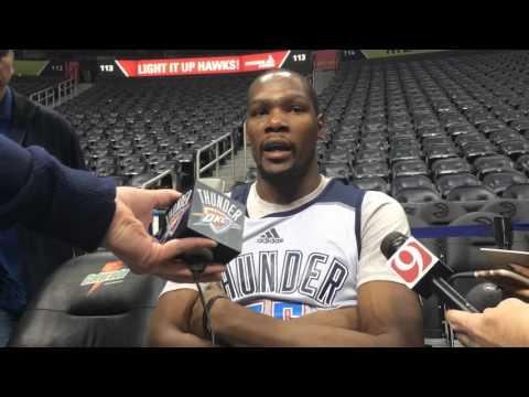 Durant: Shootaround in Atlanta - Nov. 30, 2015