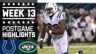 Colts vs. Jets | NFL Monday Night Football Week 13 Game Highlights