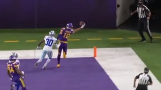 Adam Thielen AMAZING One-Handed Catch vs. Cowboys | NFL Week 11