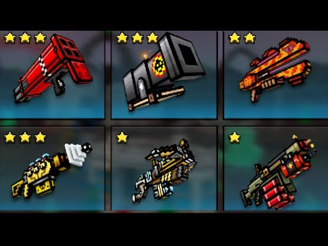 Pixel Gun 3D - All Heavy Weapon Challlenge! (NEW VERSION)