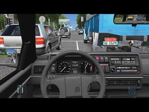 City Car Driving - Volkswagen Golf II 1.6D   Street Racing