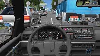 City Car Driving - Volkswagen Golf II 1.6D | Street Racing