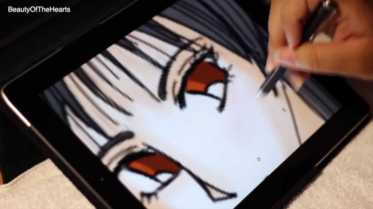 Drawing Manga Girl (iPad) - YouTube
