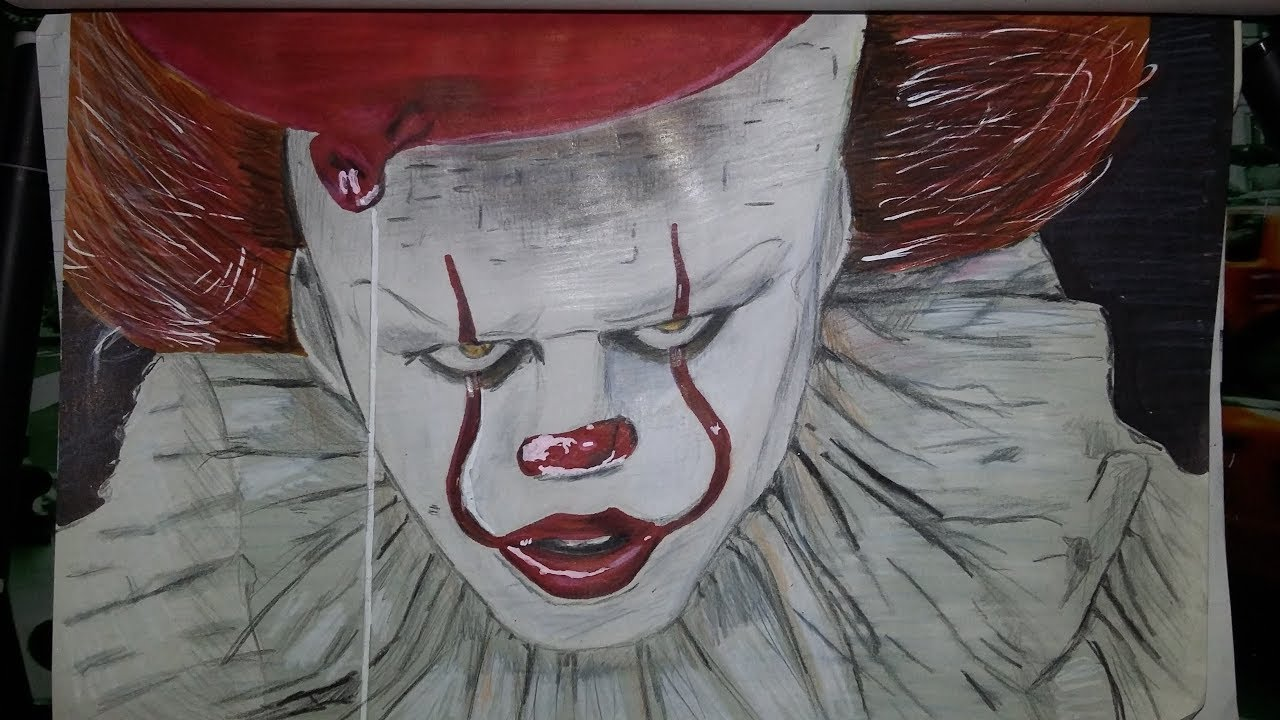 dessin it pennywise youtube. Black Bedroom Furniture Sets. Home Design Ideas
