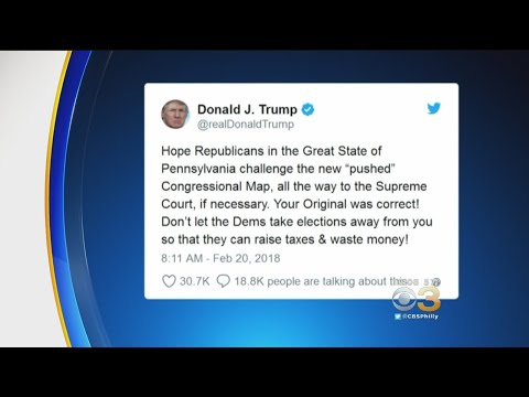 Trump To Pennsylvania Republicans: Fight Newly Drawn Congressional Map
