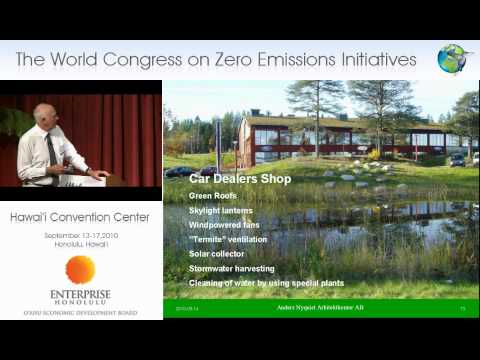 """Anders Nyquist, The World Congress on Zero Emissions Initiatives -- Launching """"The Blue Economy"""""""