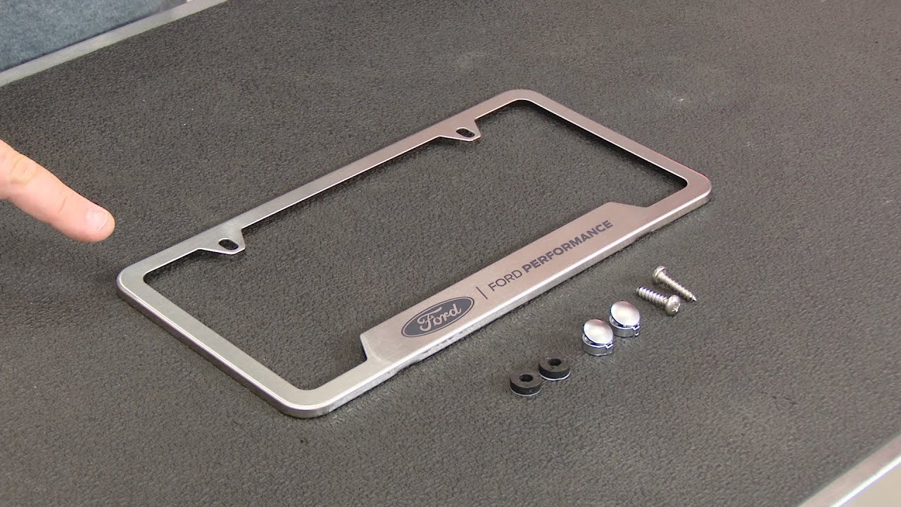 Ford Racing License Plate Frame Stainless Steel \'Ford Performance ...