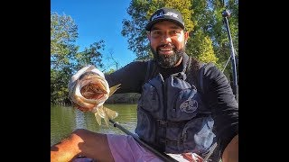 Kayak Bass Fishing- HOLY CRAWFISH!!