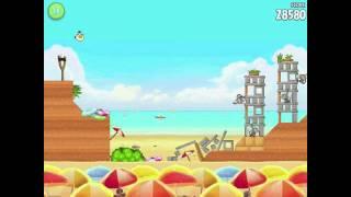 Angry Birds Rio Golden Beachball Level #10 Walkthrough