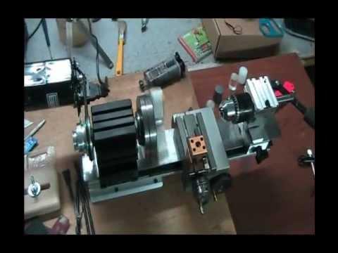 Tornio autocostruito con motore lavatrice doovi for Mini tornio proxxon