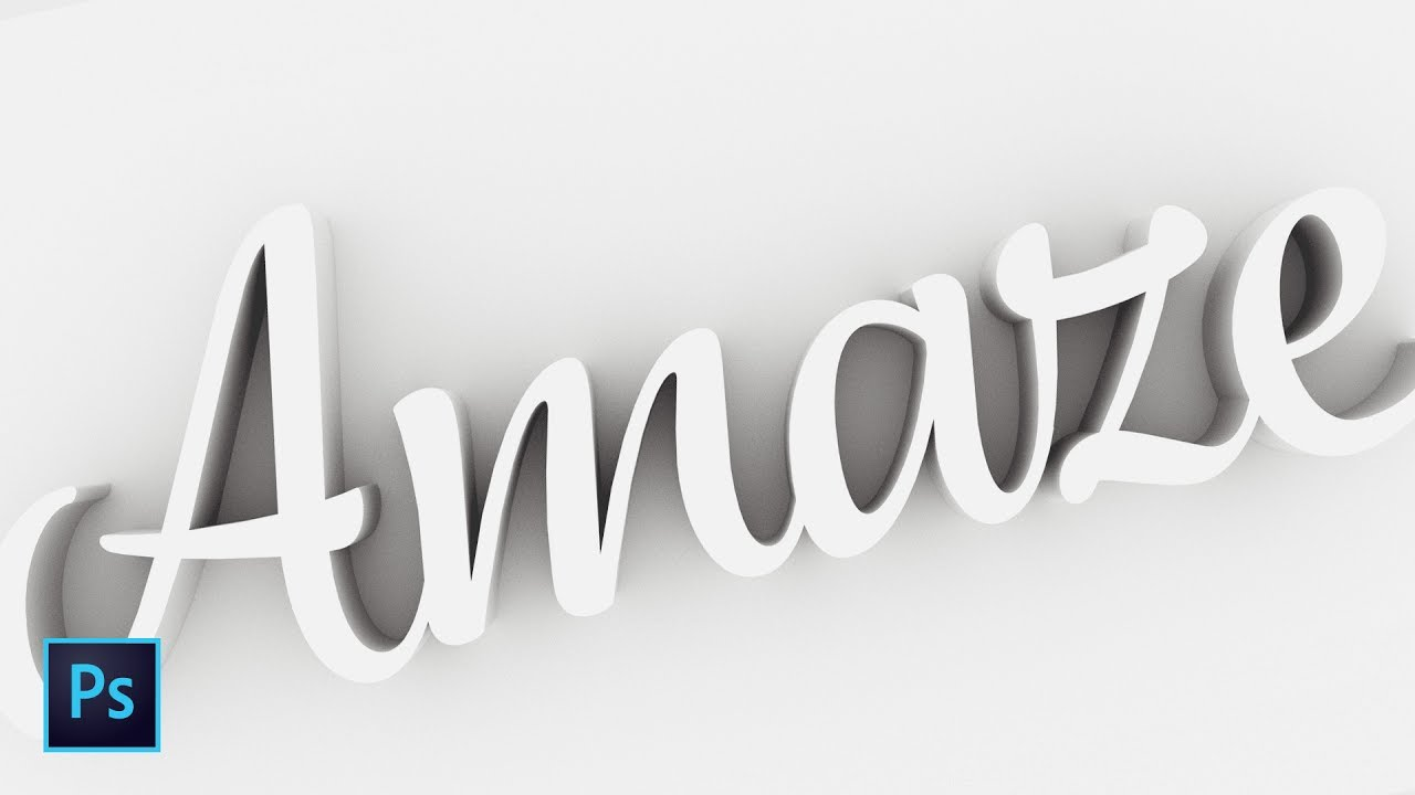 Photoshop 3d Text In Seven Minutes