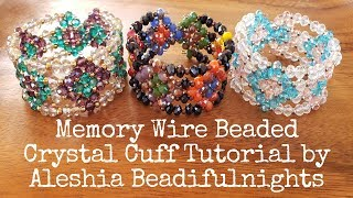 Memory Wire Beaded Crystal Cuff Tutorial