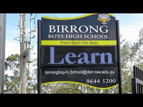 Electronic Sign - Birrong Boys High School, Sydney