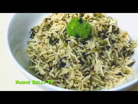 How To Cook Jamaican Calalloo Rice😋😋