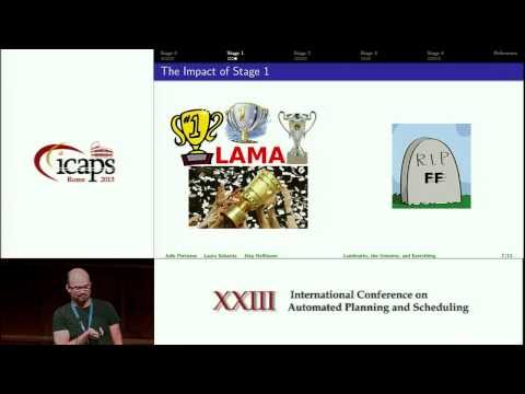 ICAPS 2013: Jörg Hoffmann (Influential Paper Award) - On the Extraction, Ordering, and Usage of ...
