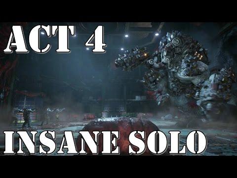 Gears of War 4 – Act 4 (Chapter 4, 5) – INSANE SOLO Walkthrough Playthrough [Swarmak Boss]