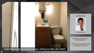 1004 New England Hollow Road, Jefferson Hills, PA 15025