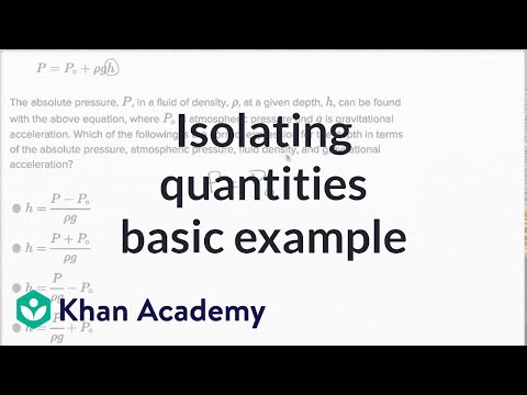 Isolating Quantities — Basic Example | Math | New SAT | Khan Academy