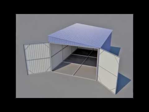 Гараж с односкатной крышей на одно машиноместо