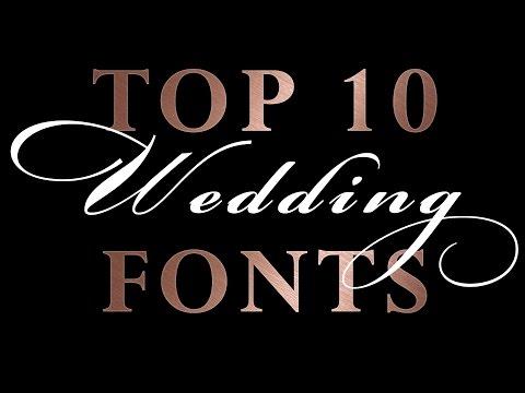 Top 10 Romantic Wedding Script Fonts | Wedding Invitations