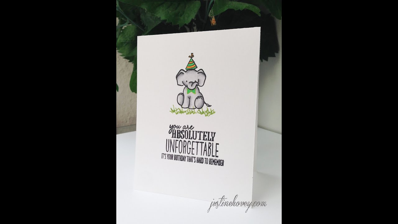 5 Minute DIY Birthday Card Unforgettable Stamp from Wplus9 YouTube