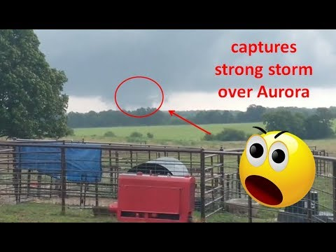 Viewer captures strong storm over Aurora, Mo. Sunday