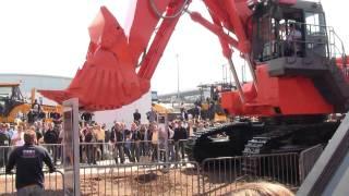 Big Hitachi EX1200 Mining Excavator Demo @ Bauma 2010