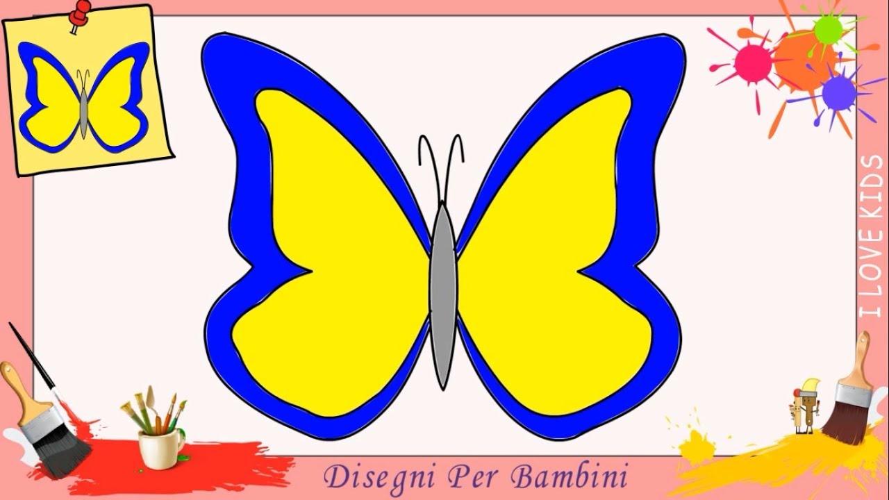 Disegni di farfalle facili per bambini come disegnare un for Disegni disney facili da disegnare