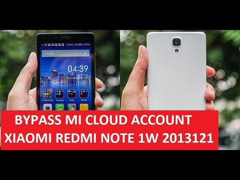 How To Bypass Forgot Mi Cloud Account Redmi Note 1w 3g 2013121