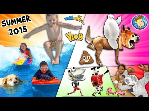 Thumbnail: Horsey Go Poopy! Baymax is Poofy! Doggy in a Pooly! Cow go Mooey! (SUMMER 2015 FUNnel Vision Vlog)